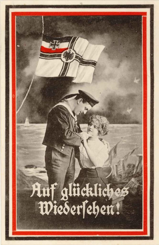 Idealiseret postkort: En sømand tager afsked med sin kæreste