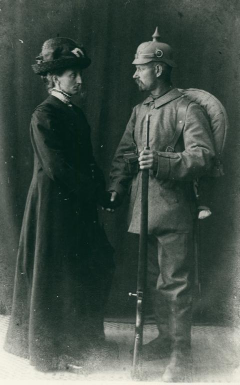 Et unavngivet sønderjysk ægtepar tager afsked august 1914