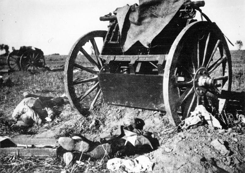1914-09-03 Ødelagt østrigsk kanon Lemberg