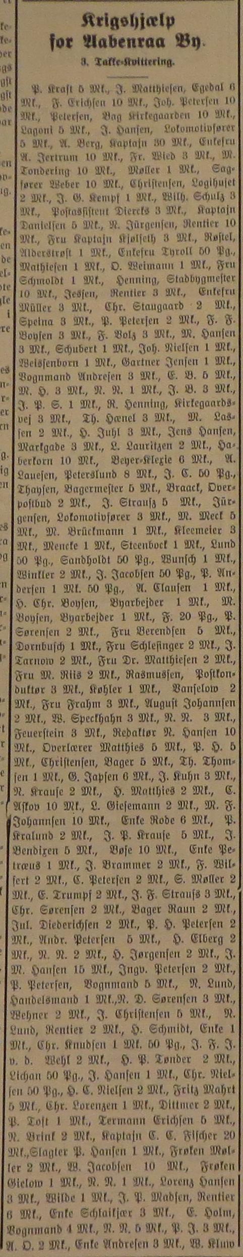 21.09.1914 - krigshjælp, Hejmdal