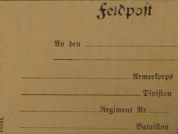 feltpostbrev, illustration til hejmdal den 3.9.1914