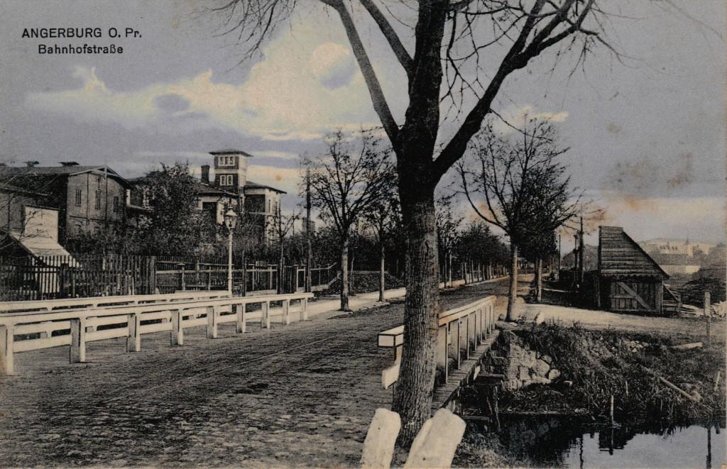 1914-11-11 LIR84 Otto Theodor Wagner - ANGERBURG O. Pr. Bahnhofstrasse