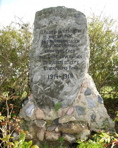 Mindesten, Holbøl Kirkegård