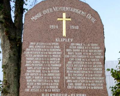 Mindesten, Kliplev Kirkegård