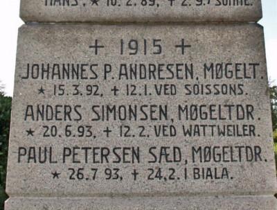 Detalje af mindesten, Møgeltønder Kirkegård