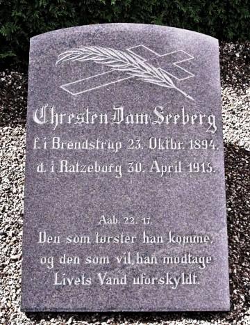 Gravsten, Rødding Kirkegård