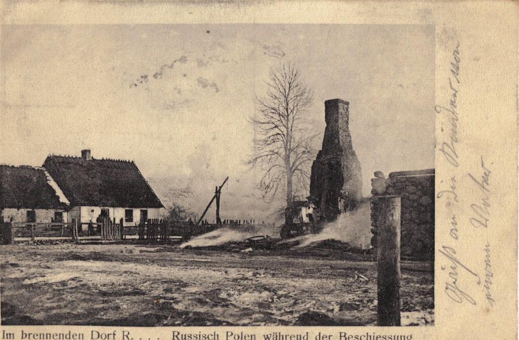 1915-05-27 LIR84 Otto Theodor Wagner - Im brennenden Dorf R....