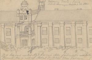 Kloster i Rossienie tegnet af Iver Henningsen 30. maj 1915 (Historisk Arkiv for Haderslev Kommune)