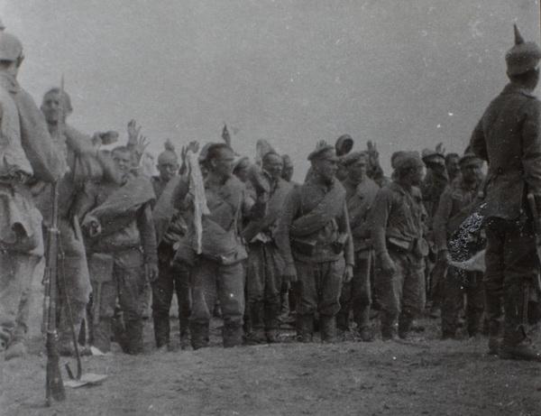 Russiske soldater overgiver sig (Museum Sønderjylland - Sønderborg Slot)