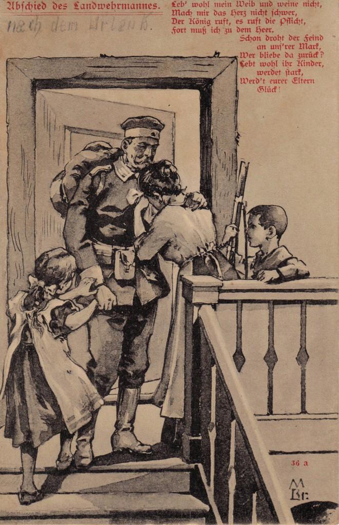 1915-06-02 LIR84 Otto Theodor Wagner - Abschied des Landwehrmannes