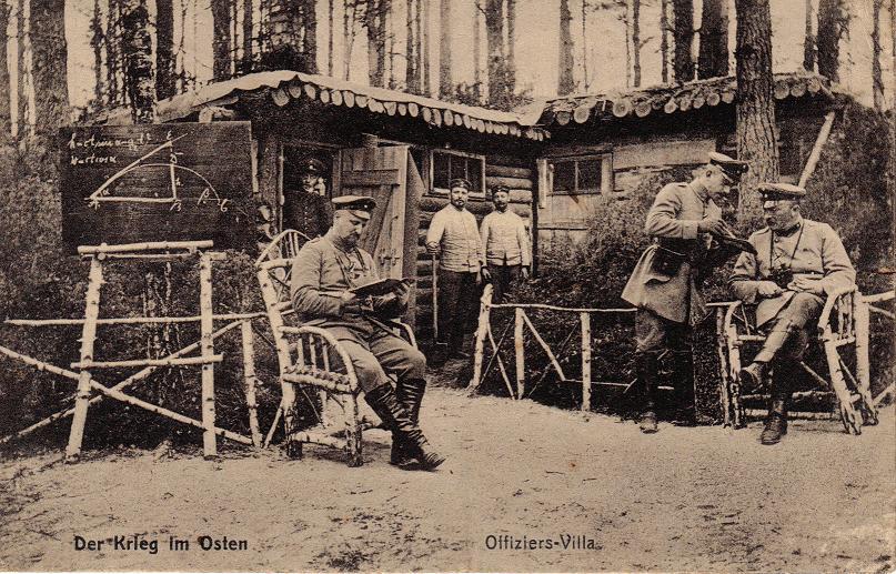 1915-08-01 LIR84 Otto Theodor Wagner - Der Krieg im Osten - Offiziers-Villa