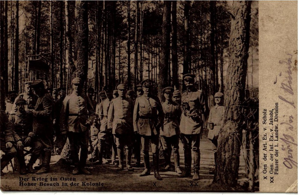 1915-08-16 LIR84 Otto Theodor Wagner - Der Krieg im Osten - Hoher Besuch in der Kolonie