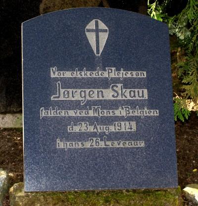 Mindesten, Starup Kirkegård for Jørgen Skau