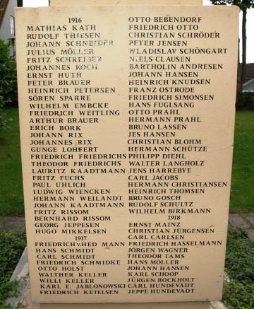 Tyske mindesten, Haderslev Klosterkirkegård