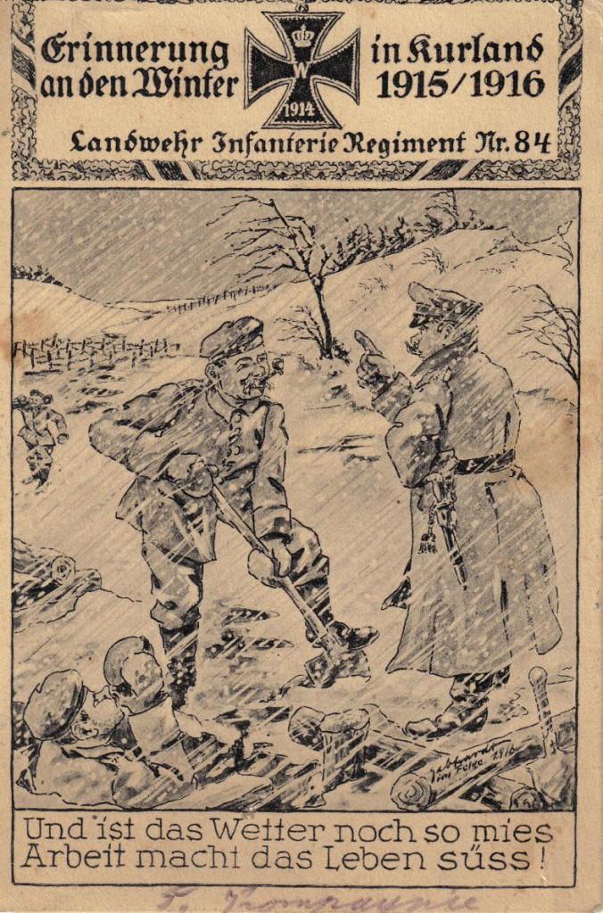 1915-12-24 LIR84 Otto Theodor Wagner - Erinnerung an der Winter in Kurland 15-16