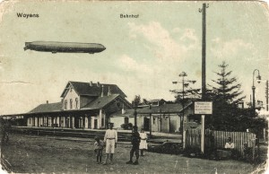 Zeppelin over Vojens banegård