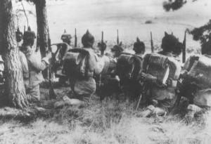Tyske tropper kort før indmarchen i Luxembourg