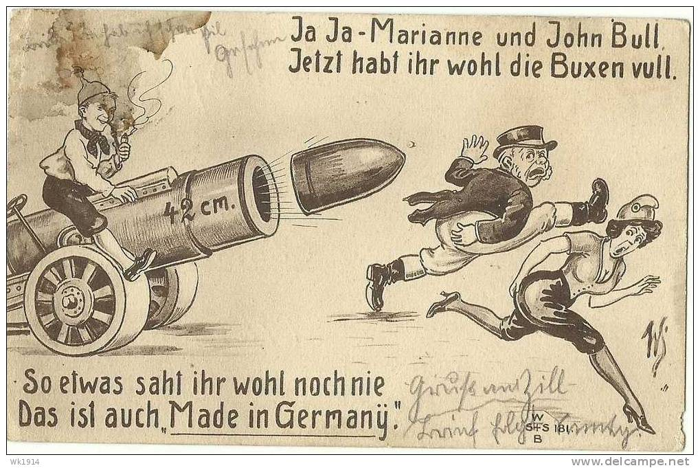 1914-08-06 Tykke Bertha karikatur