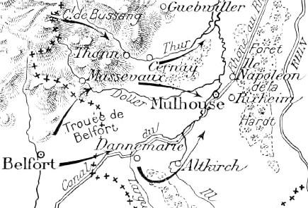 Kampene ved Mulhouse (Mülhausen) 8. august 1914