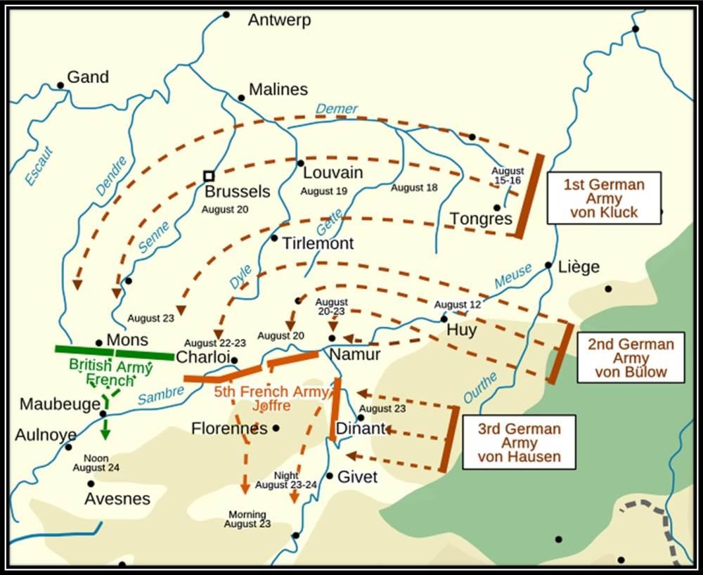 1914-08-23 Mons kort