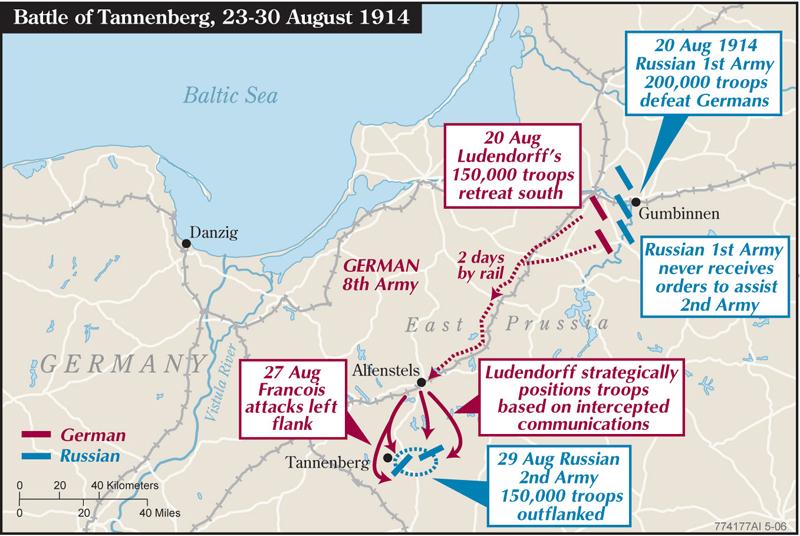 1914-08-29 Tannenberg kort