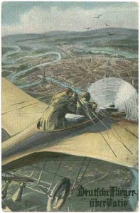 1914-08-30 Tysk fly over Paris