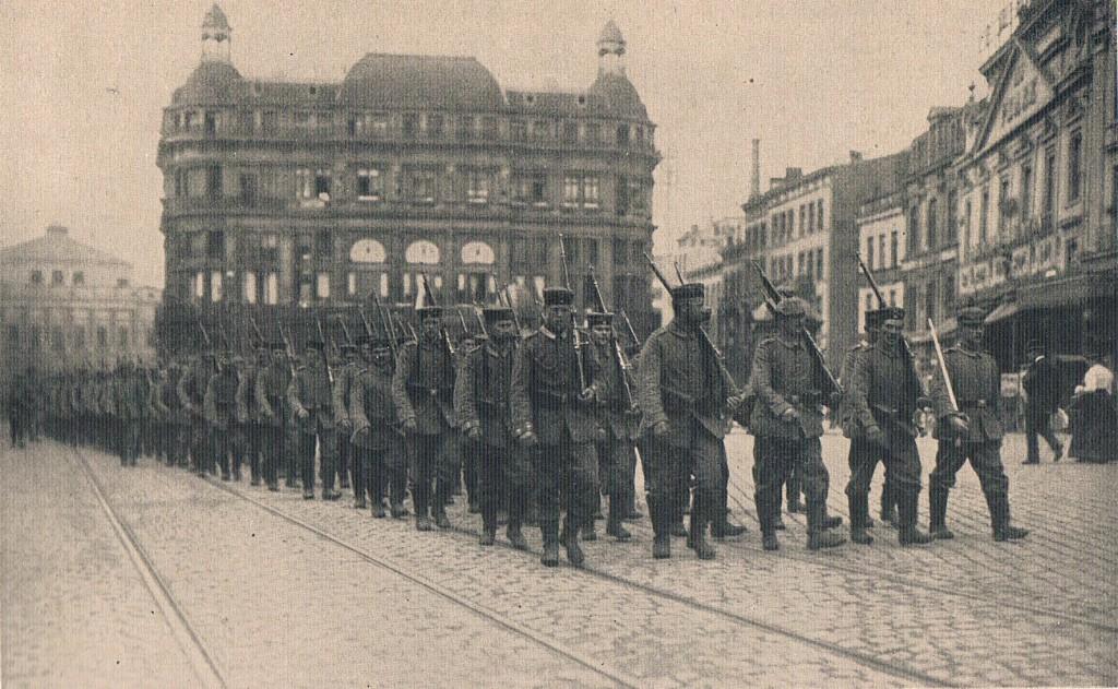 Voelkerkrieg tyske soldater Liege august 1914