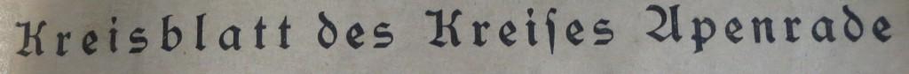 kreisblatt for Aabenraa