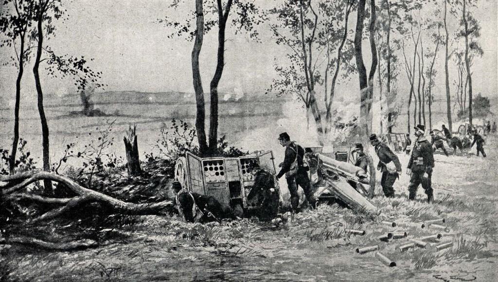 1914-09-06 Franske 75'ere i skudstilling copy