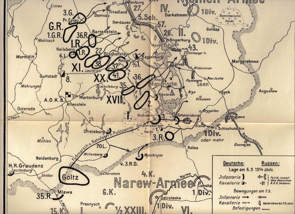 1914-09-06 LIR84 Schlacht an den Masurischen Seen