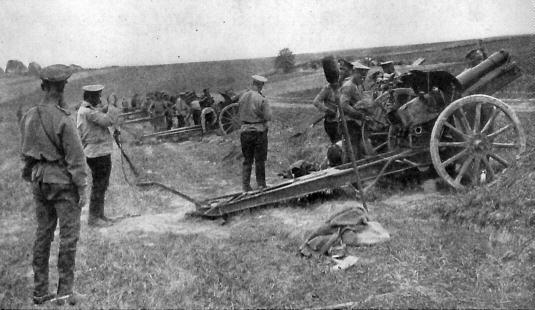 1914-10-19 russisk artilleri