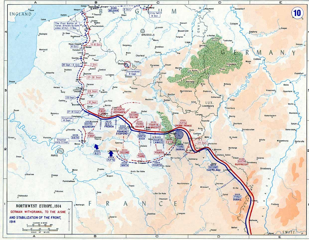September 1914 kort