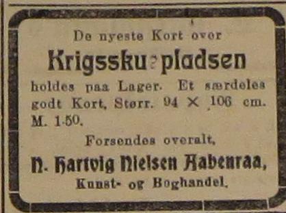 kort over krigsskuepladsen sælges. 15.09.1914