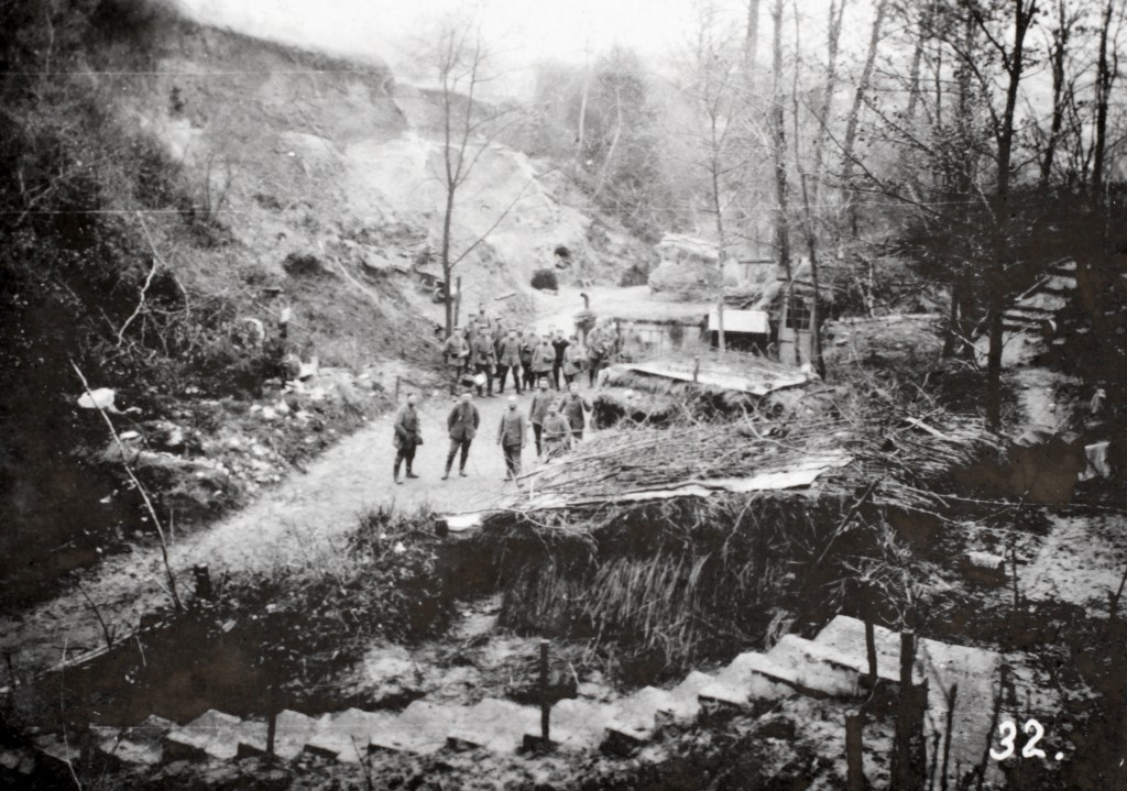 Hulvej ved Dreslincourt oktober 1914