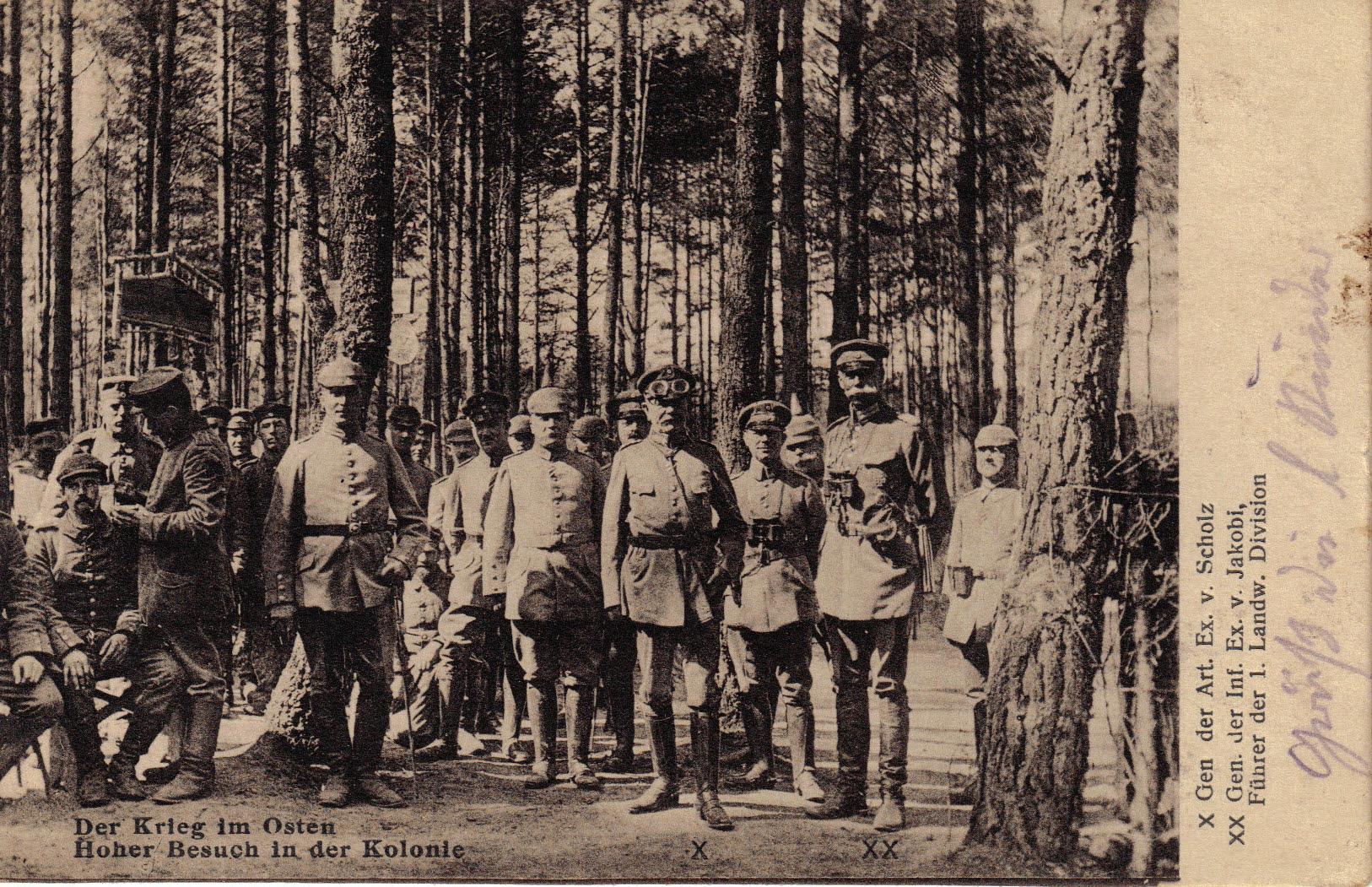 1914-10-18 LIR84 Der Krieg im Osten - Hoher Besuch in der Kolonie