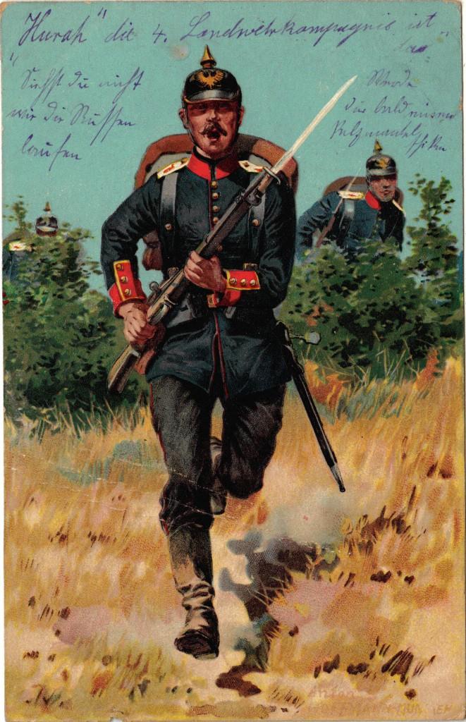 1914-11-03 LIR4 Otto Theodor Wagner - hurah die 4. Landwehrkompagnie ist dar - forside