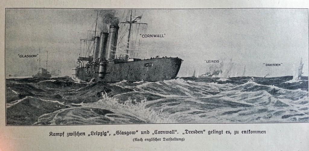 Glasgow og Cornwall mod Leipzig og Dresden