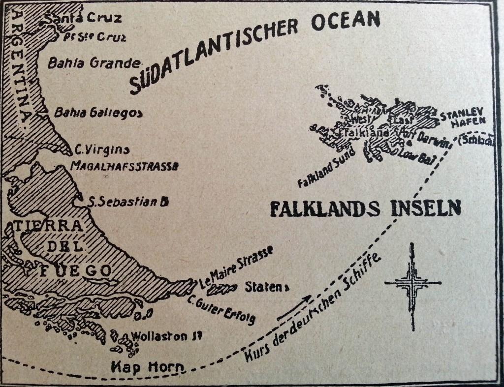 Kurs mod Falklandsøerne