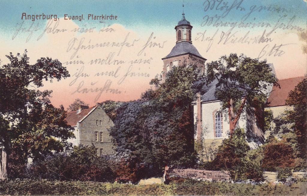 1914-12-10 LIR84 Otto Theodor Wagner - Angerburg, Evangl. Pfarrkirche