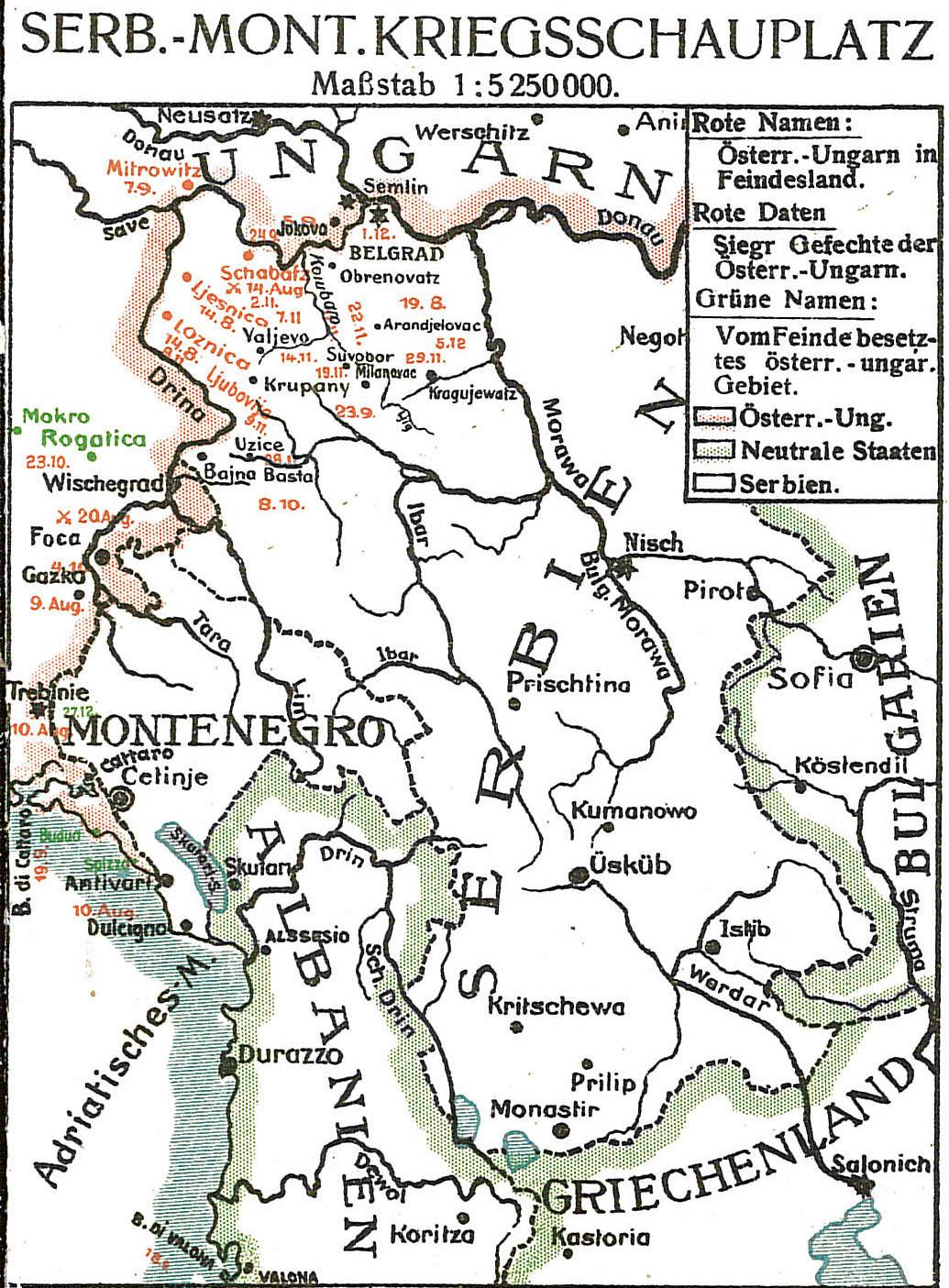 1915-01-10til16 Krigskort Balkan