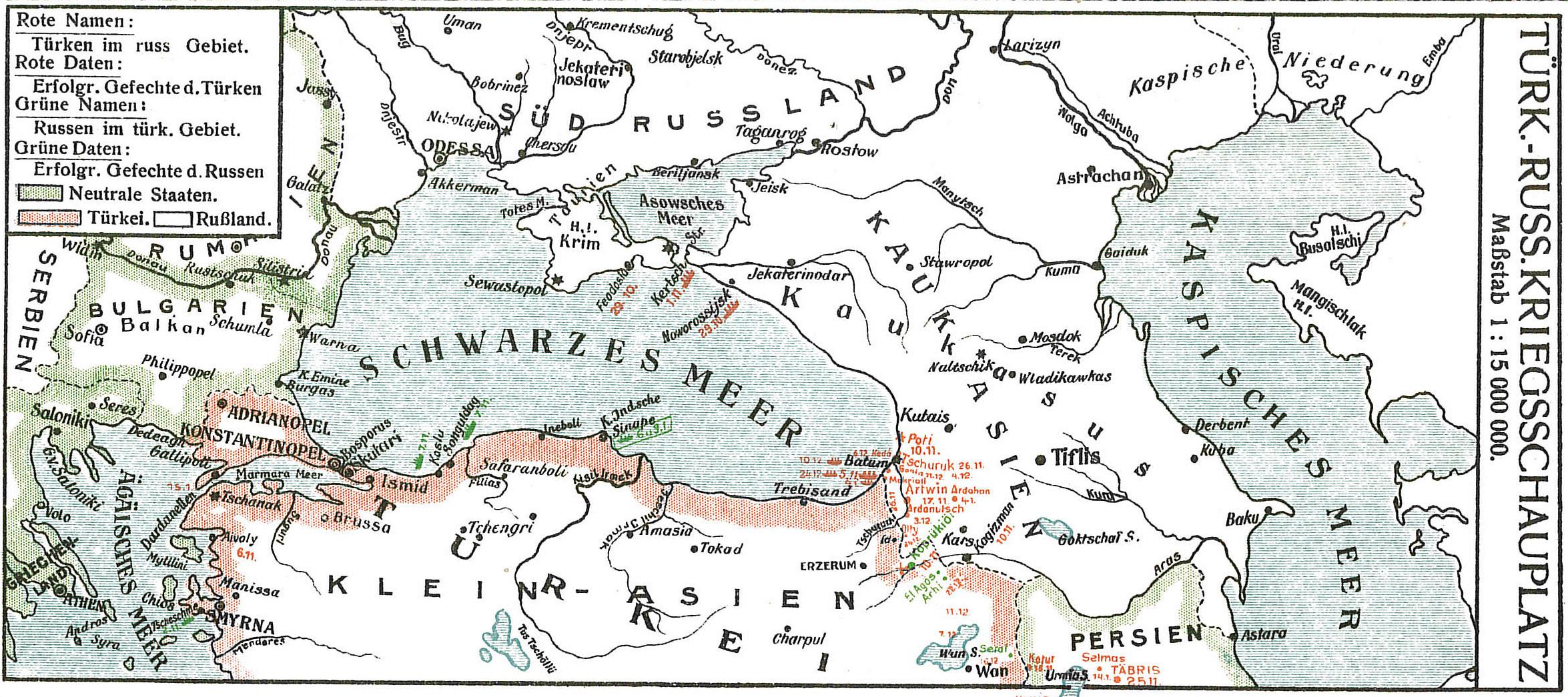1915-01-10til16 Krigskort Tyrkiet