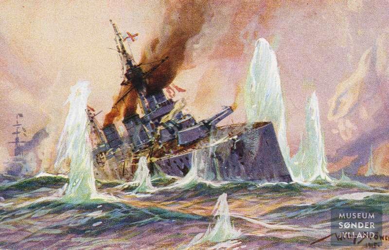 1915-01-24 britisk krydser beskydes 00020X00791