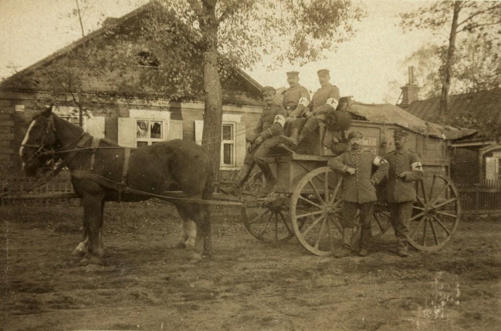 Ambulance ved Novoalexandrovsk i 1915