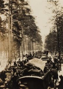 Fremmarch i Østpreussen i begyndelsen af februar 1915.