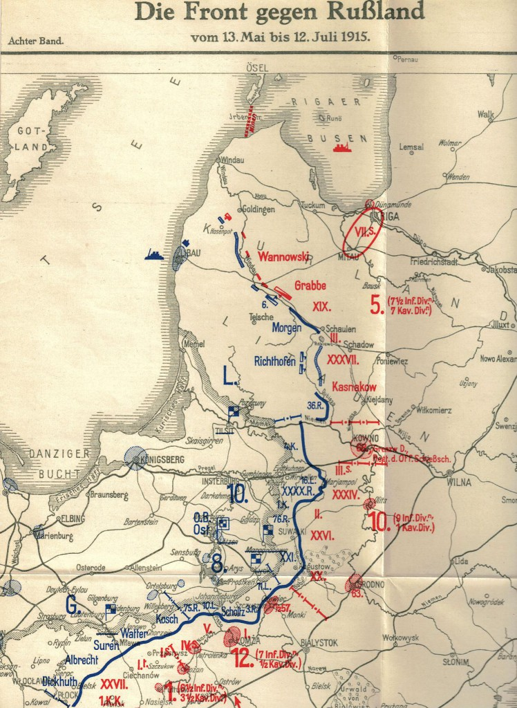 1915-04-29 LIR84 Die Front gegen Russland vom 13-5_bis_12-7-1915