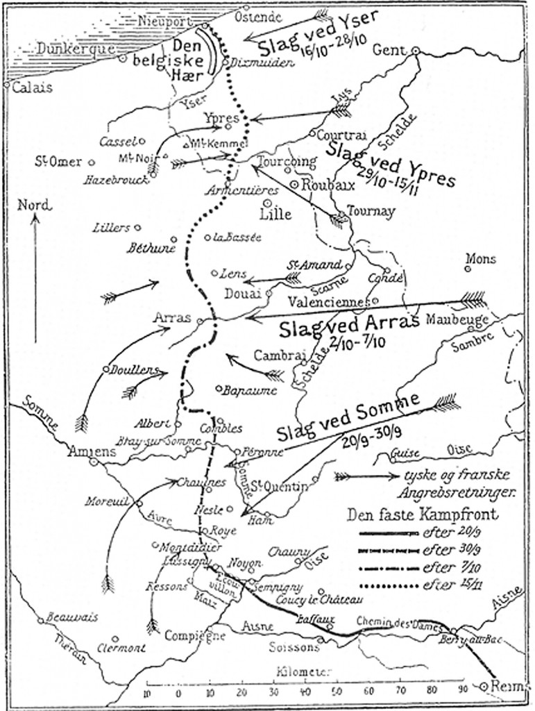 Kapløbet mod havet 1914