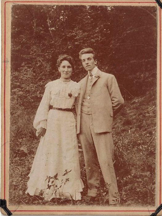 Bryllupsbilled af Opa og oma 18_05_1907