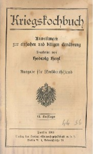 Titelbladet fra Krigskogebog (Arkivet ved Dansk Centralbibliotek)