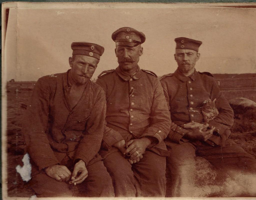 1915-06-02 Foto af Otto Wagner og 2 Unteroffz