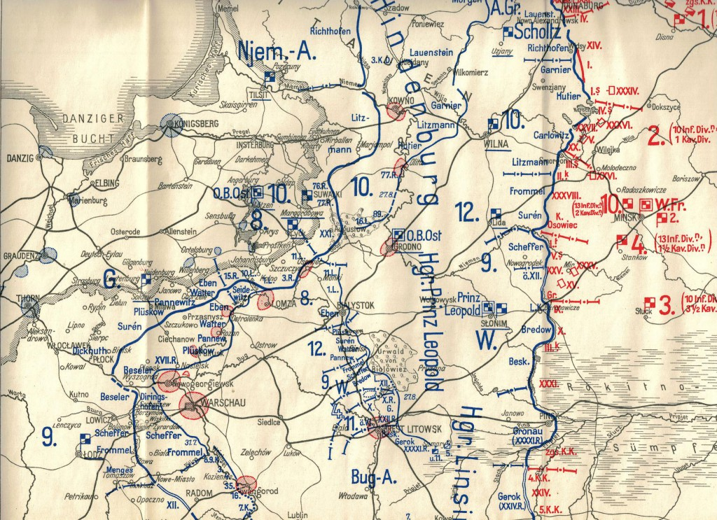 1915-08-04 LIR84 Der Weltkrieg 1914-18 bn VIII - Die Front gegen Russland vom 13. Juli bis Ende 1915 - Karte 7